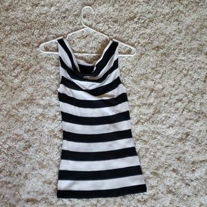 NWOT! Express black and white striped tank